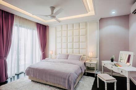 The Grove, Lakefield: asian Bedroom by Studio BEVD
