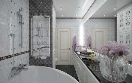 Арт деко в частном доме: Ванные комнаты в . Автор – ХаТа - design