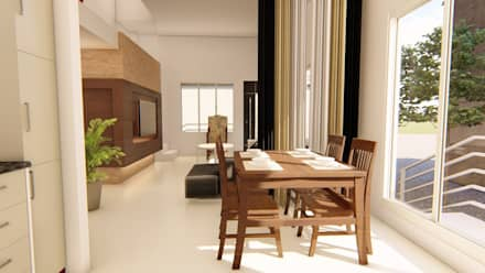 Interiors: asian Dining room by SBA