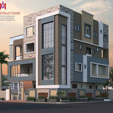 Exteriors and Architectural : classic Houses by M.A Constructions