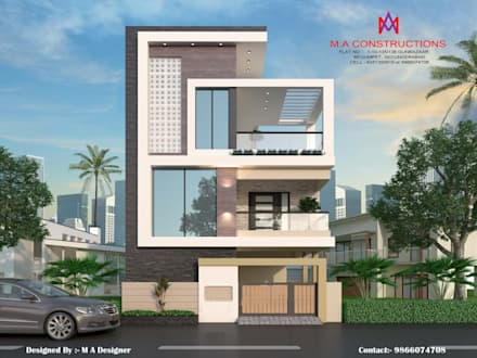 Exteriors and Architectural : asian Houses by M.A Constructions