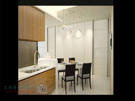 中和-現代感 文馨宅:  系統廚具 by 艾莉森 空間設計