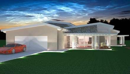 Villa Prefabbricata in Legno di Lusso: Casa prefabbricata  in stile  di Avantgarde Construct Luxury Srl