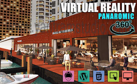 Interactive Panoromic Virtual Tour By Yantram Virtual Reality Developer - Vancouver, Canada:  Commercial Spaces by Yantram Architectural Design Studio