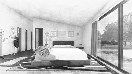 Casa MP: Dormitorios de estilo moderno por D01 arquitectura