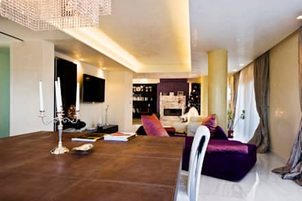 Luxury Interior Design: Sala da pranzo in stile in stile Minimalista di Studio Merlini Architectural Concept