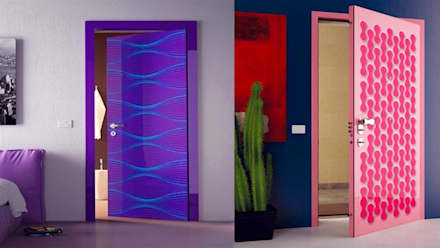 Puertas de madera de estilo  por كاسل للإستشارات الهندسية وأعمال الديكور في القاهرة