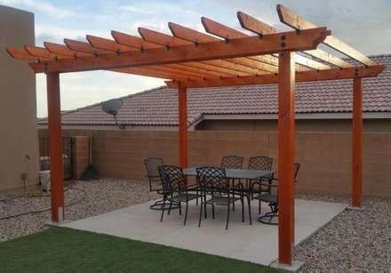 construção de pérgolas : Terraços  por Francisco jardinagem