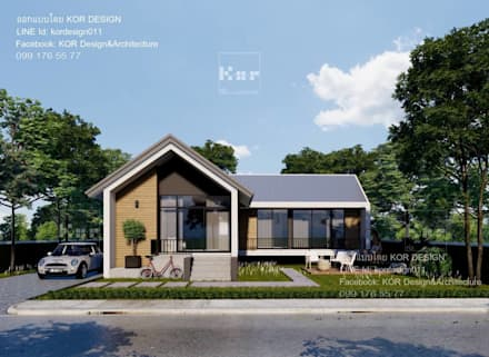แบบบ้านชั้นเดียว MD1-001 By KOR Design:  บ้านเดี่ยว by Kor Design&Architecture