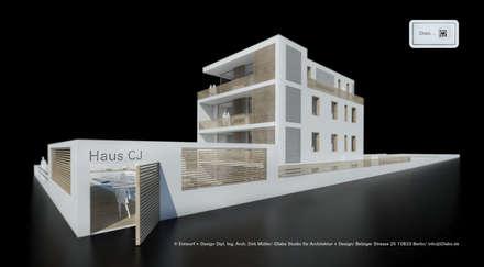 Wohnhaus - Mehrgenerationenwohnen - Ansicht von Südwesten:  Mehrfamilienhaus von iDlabs Studio für Architektur + Design