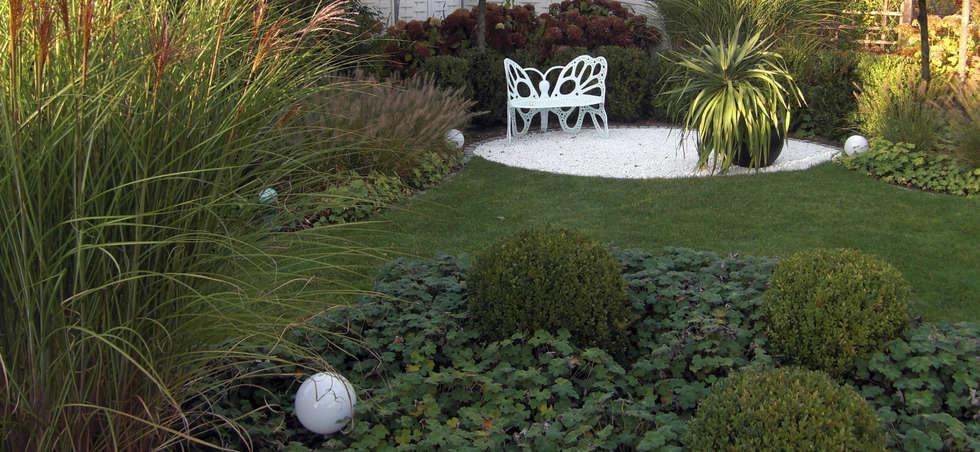 Gräser- und Buchsgarten: moderner Garten von Planungsbüro STEFAN LAPORT