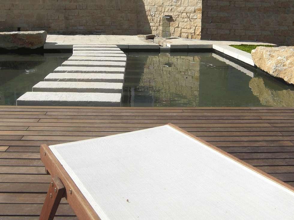 Pool-Garten: mediterraner Pool von Planungsbüro STEFAN LAPORT