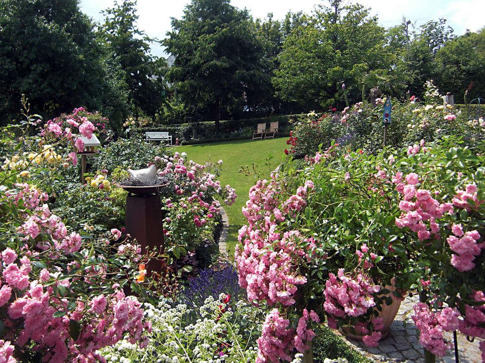 Der romantische Landhausgarten: landhausstil Garten von Planungsbüro STEFAN LAPORT