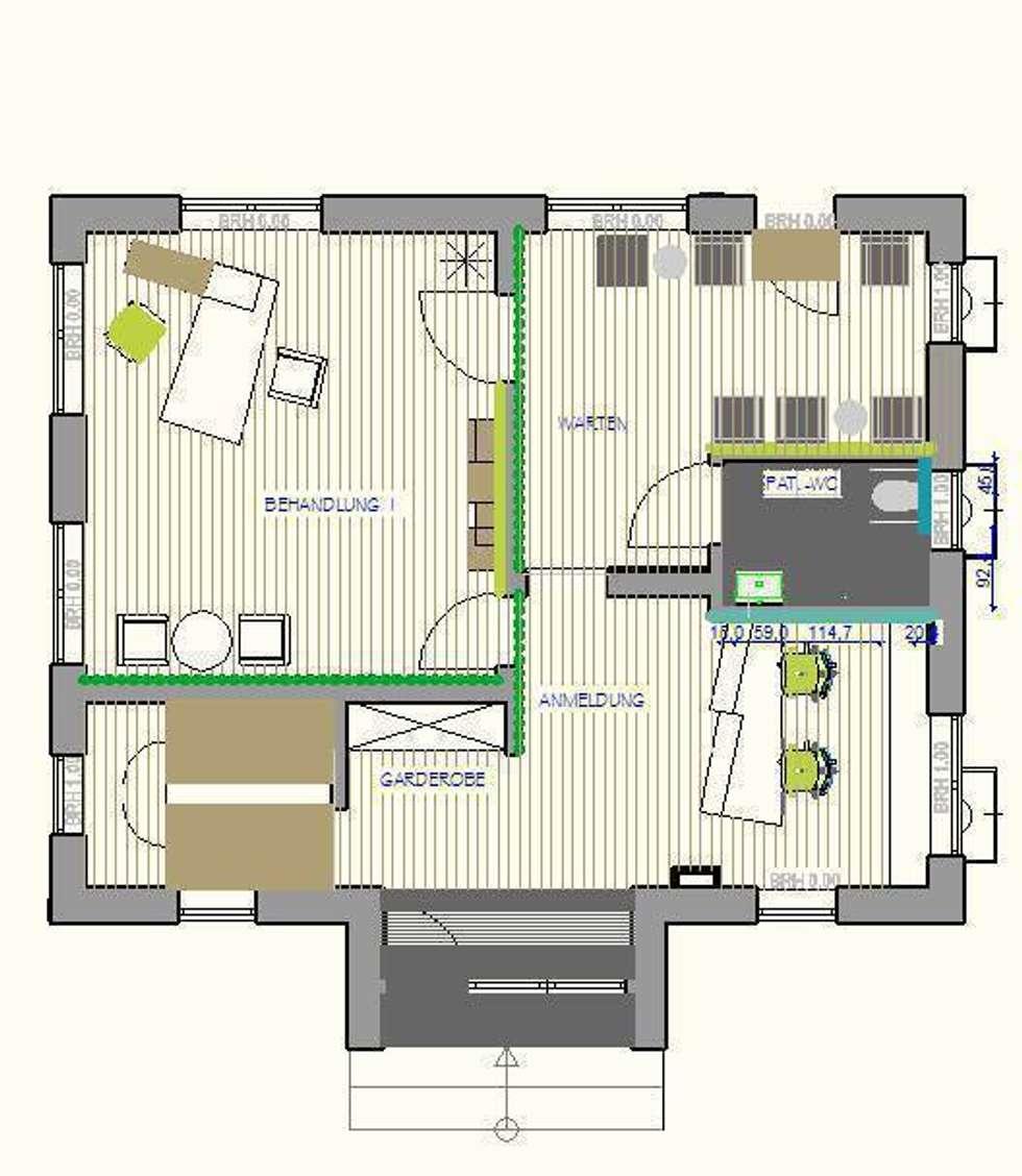 Psychiatrische Praxis in Alzey: moderne Häuser von Einrichtungsideen