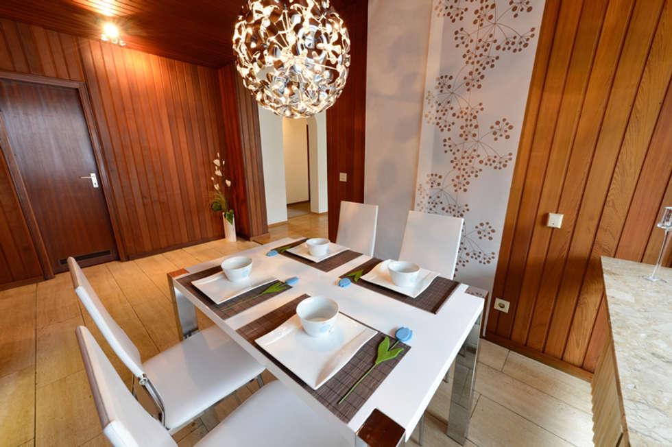 Eigentumswohnung Duisburg: moderne Esszimmer von raumessenz homestaging