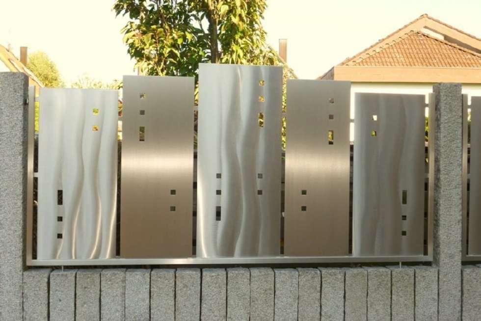 Edelstahl Sichtschutz Garten : Sichtschutz moderner Garten von Edelstahl Atelier Crouse  Stainless