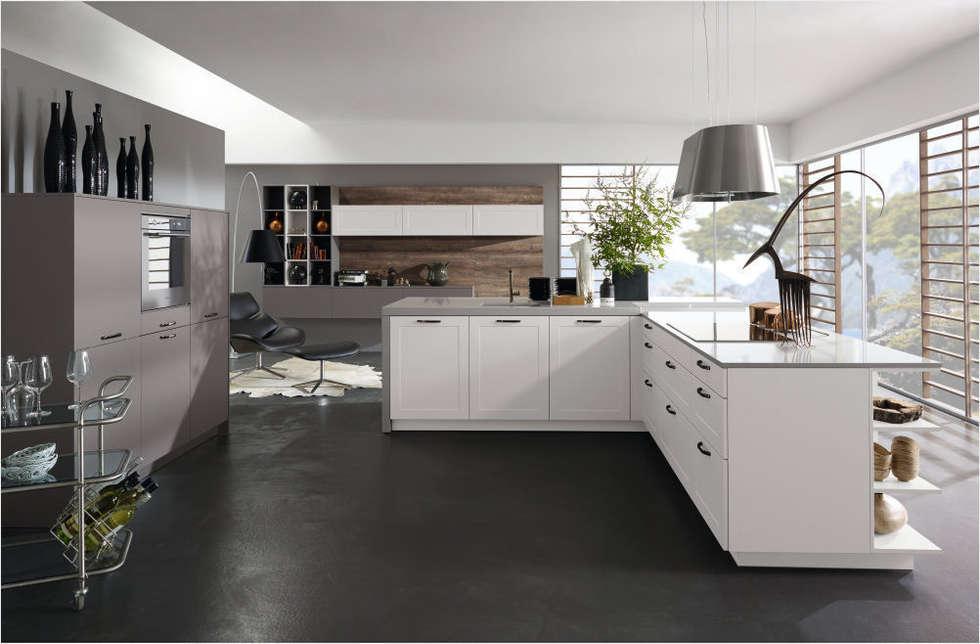 Küchenfronten - weiß: minimalistische Küche von ALNO AG