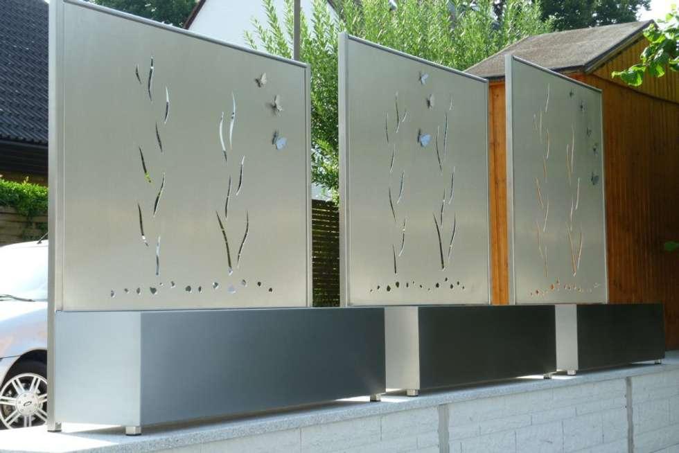 edelstahl sichtschutz moderner garten von edelstahl atelier crouse stainless steel atelier