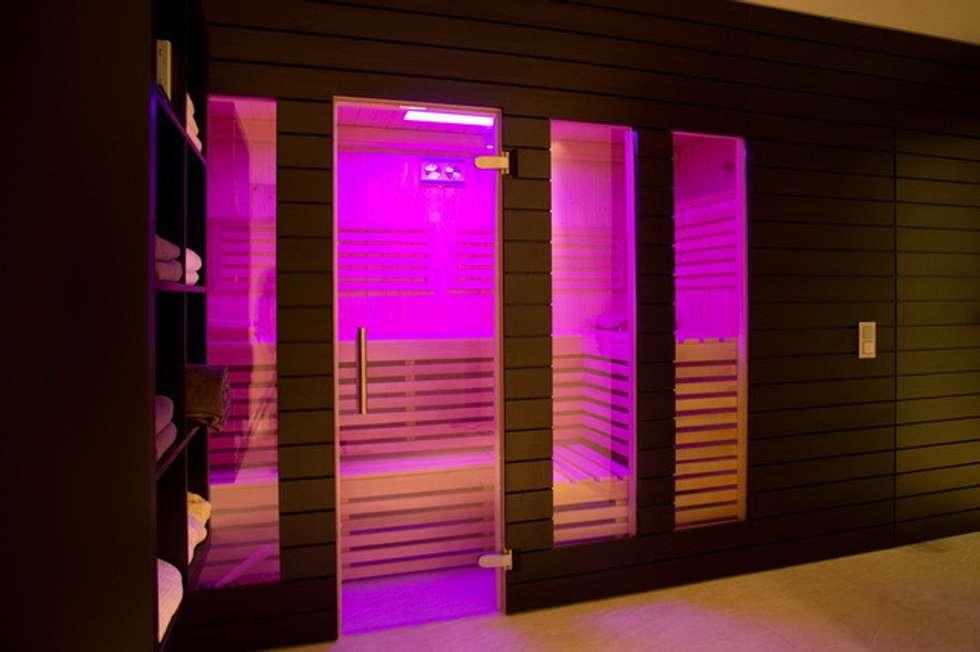 Privatvilla Rheingau: modernes Spa von  ligthing & interior design