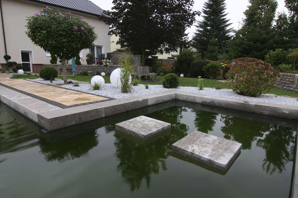 Fotos de estanques de jardín de estilo de stein/garten/design e.k ...