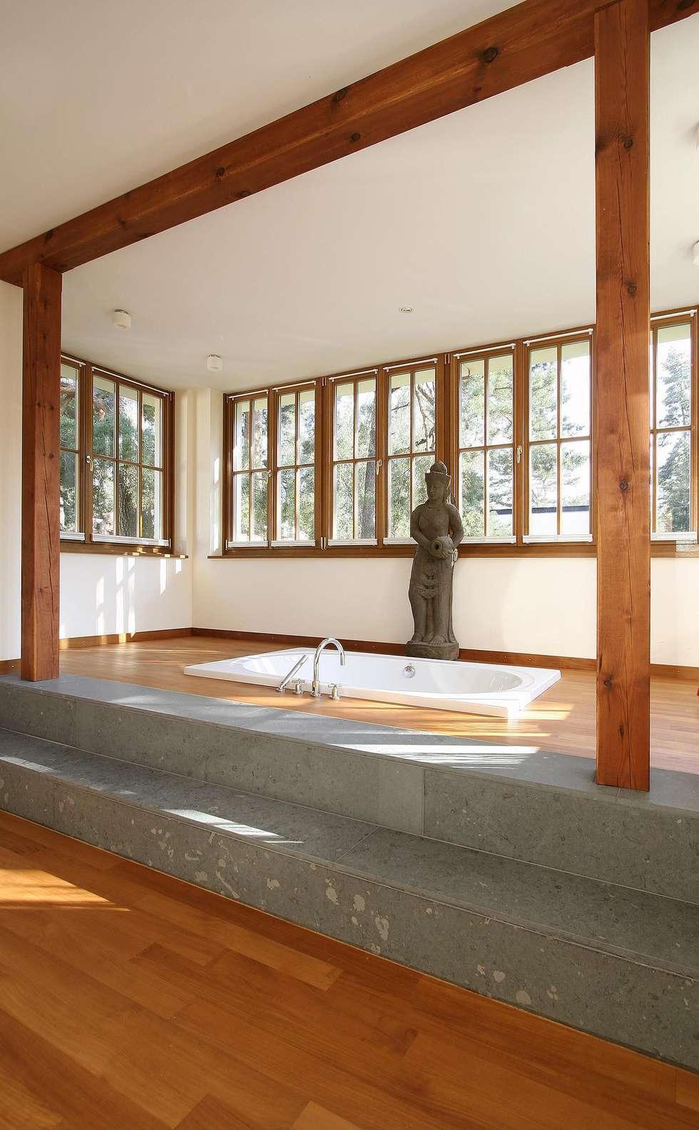 English inspired - Domizil mit Landhausflair: landhausstil Badezimmer von CG VOGEL ARCHITEKTEN