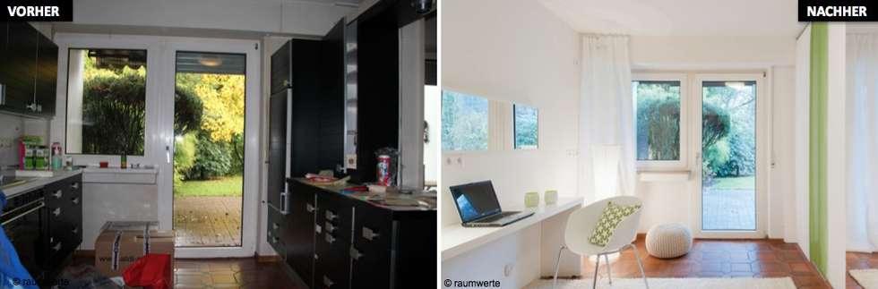 Home Staging Erbimmobilie Siebziger Jahre:  Arbeitszimmer von raumwerte Home Staging