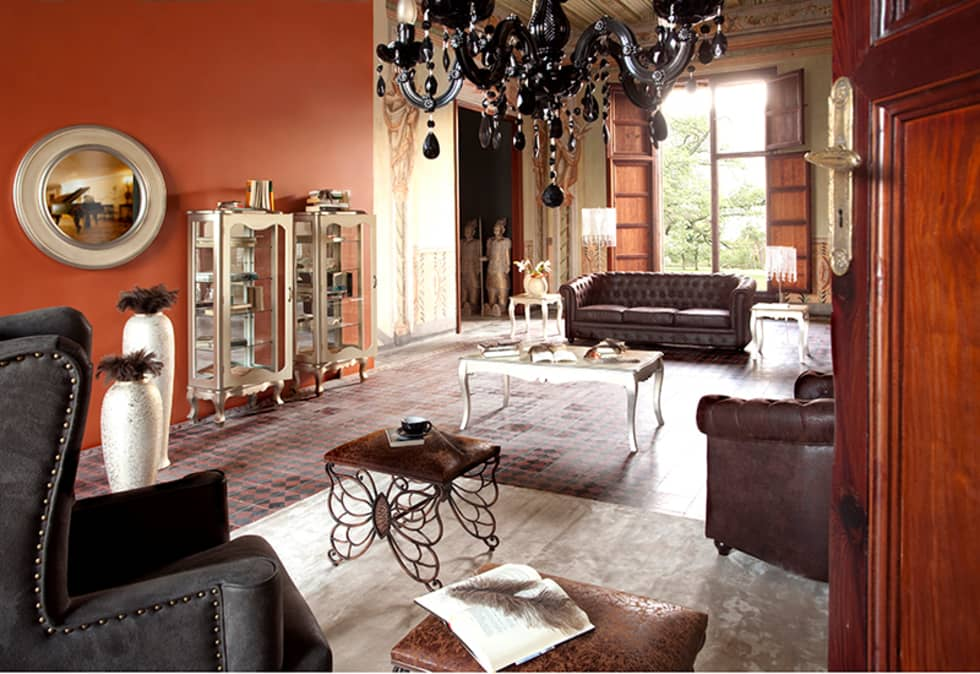 Vicalhome: Salones de estilo rústico de Quino Prades