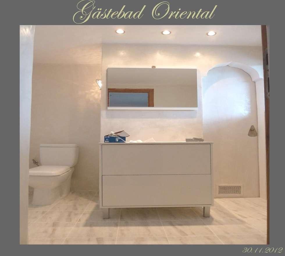 Orientalische Malerei: koloniale Badezimmer von Illusionen mit Farbe