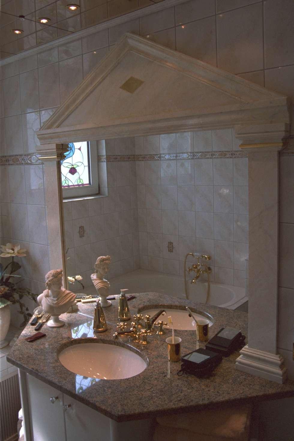 klassische badezimmer bilder: badgestaltung spiegel stuck und