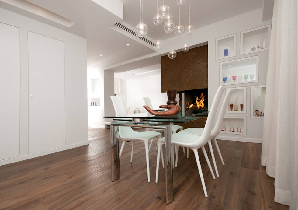 modern Dining room by LuVi ph