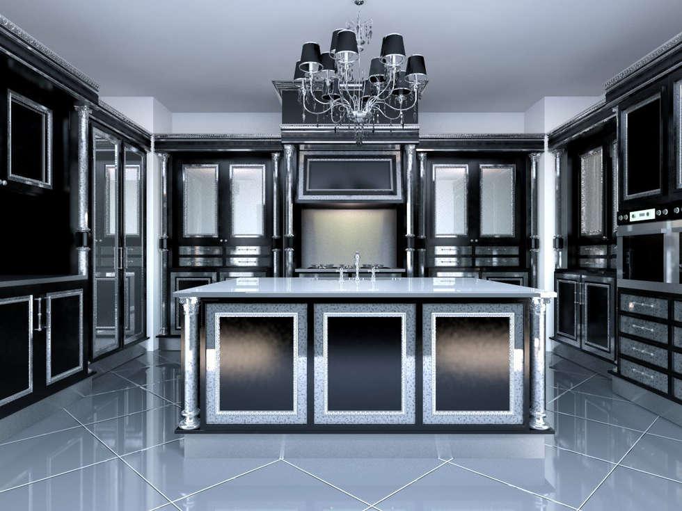 linea black: Cucina in stile in stile Classico di elisalage