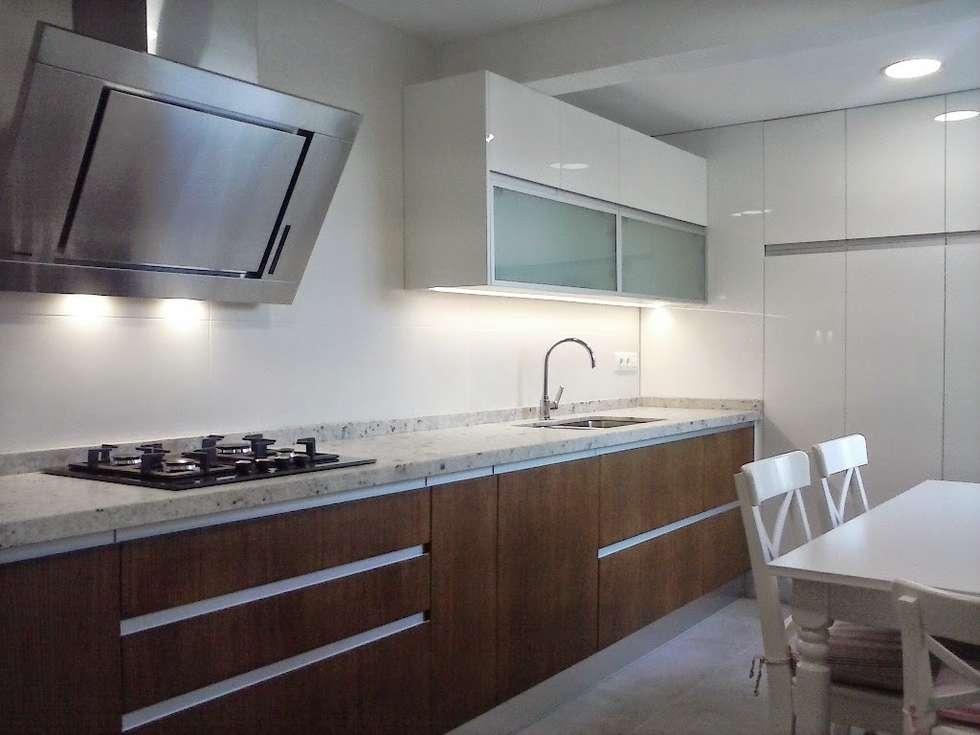 Fotos de cocinas de estilo moderno cocina blanca y for Cocina estilo moderno