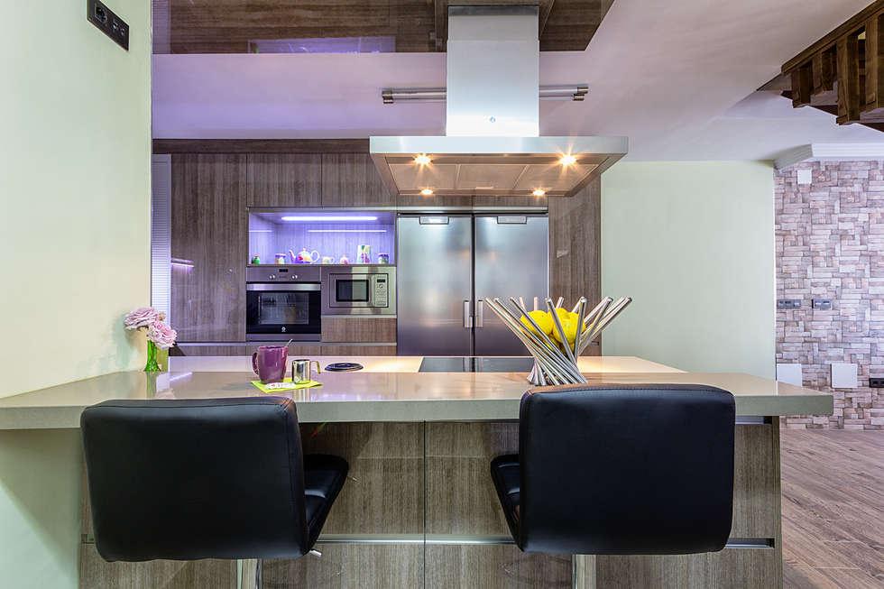 Fotos de cocinas de estilo moderno dise o de cocina - Laminado para cocina ...