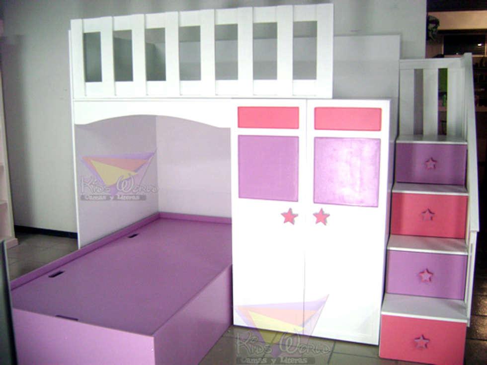 Dormitorios de estilo por camas y literas infantiles kids world homify - Escaleras para literas infantiles ...