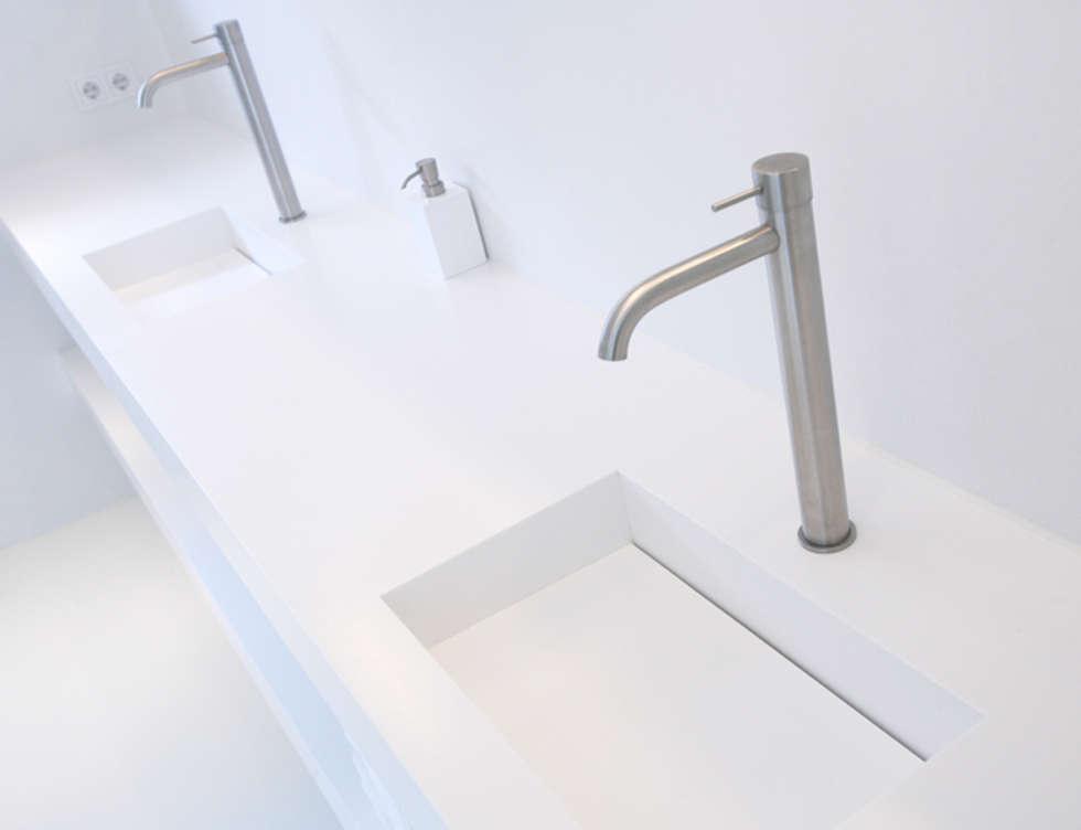 Marike pulse wastafel maatwerk programma: moderne badkamer door