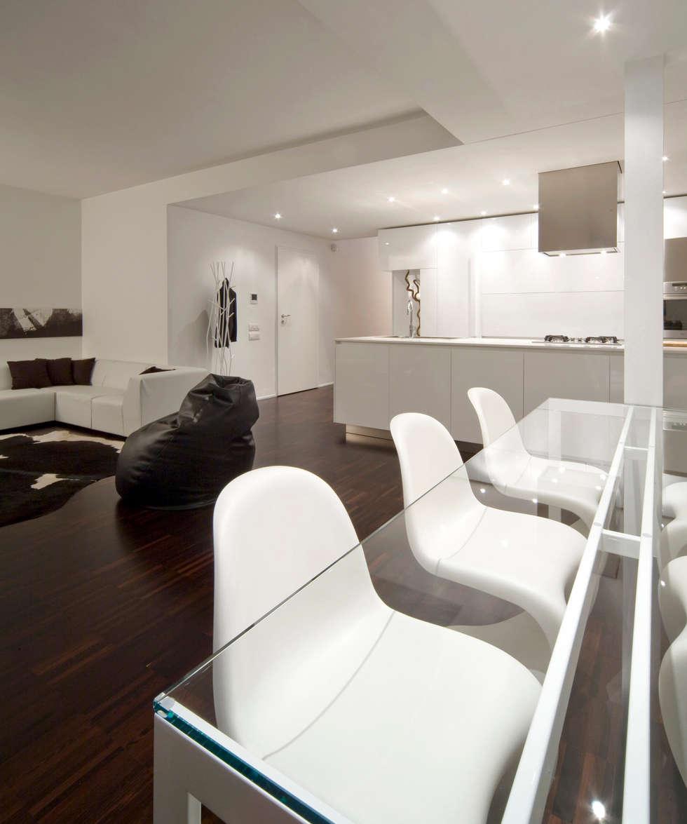 Zona pranzo soggiorno in stile di comoglio architetti homify - Zona pranzo design ...