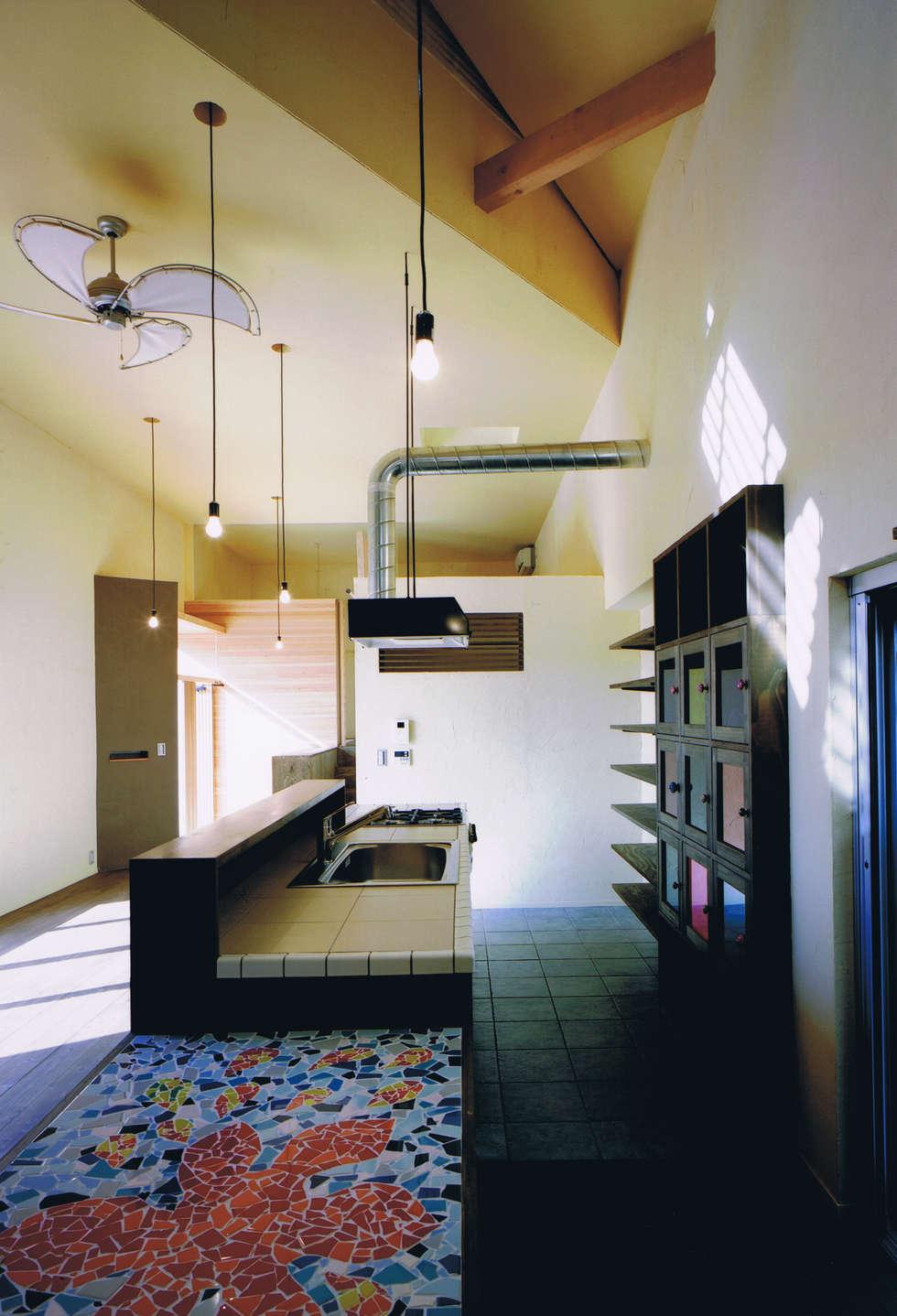 House Outsider Art: eu建築設計が手掛けたキッチンです。