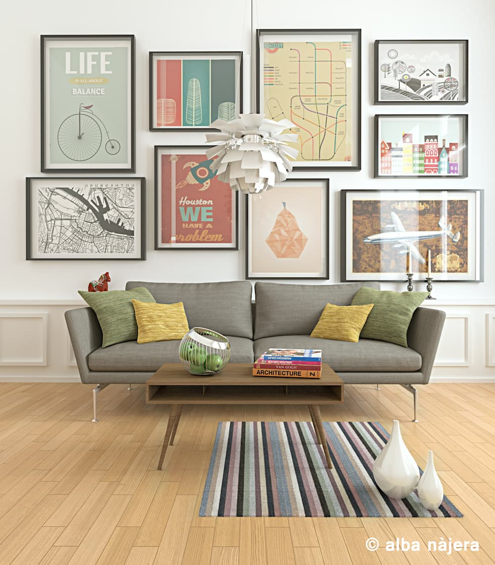 scandinavian Living room by alba najera