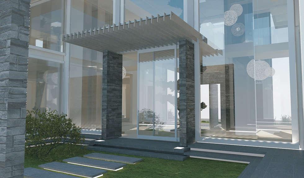 Residenza Privata in New Delhi: Case in stile in stile Moderno di Barbara Pizzi