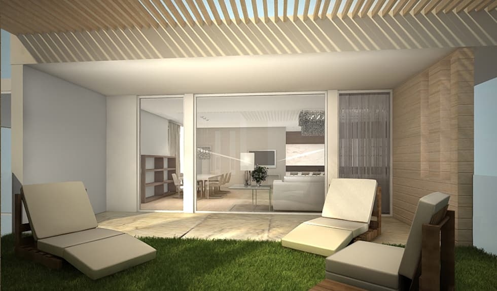 Residenza Privata in New Delhi: Terrazza in stile  di Barbara Pizzi