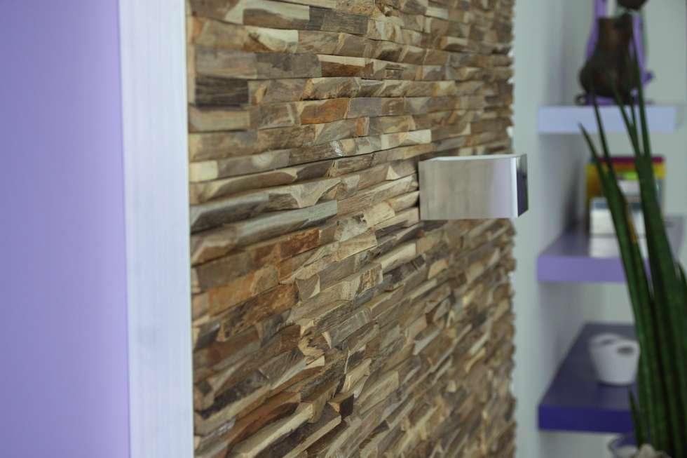 Wandverkleidung Aus Holz Moderne Wohnzimmer Von BS