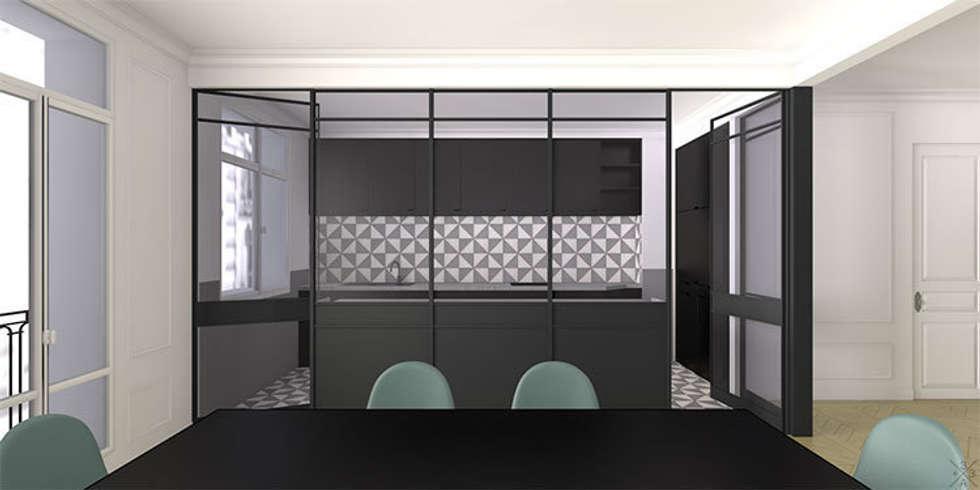Rénovation Appartement Haussmannien - Champ de Mars: Cuisine de style de style Moderne par +33architectes