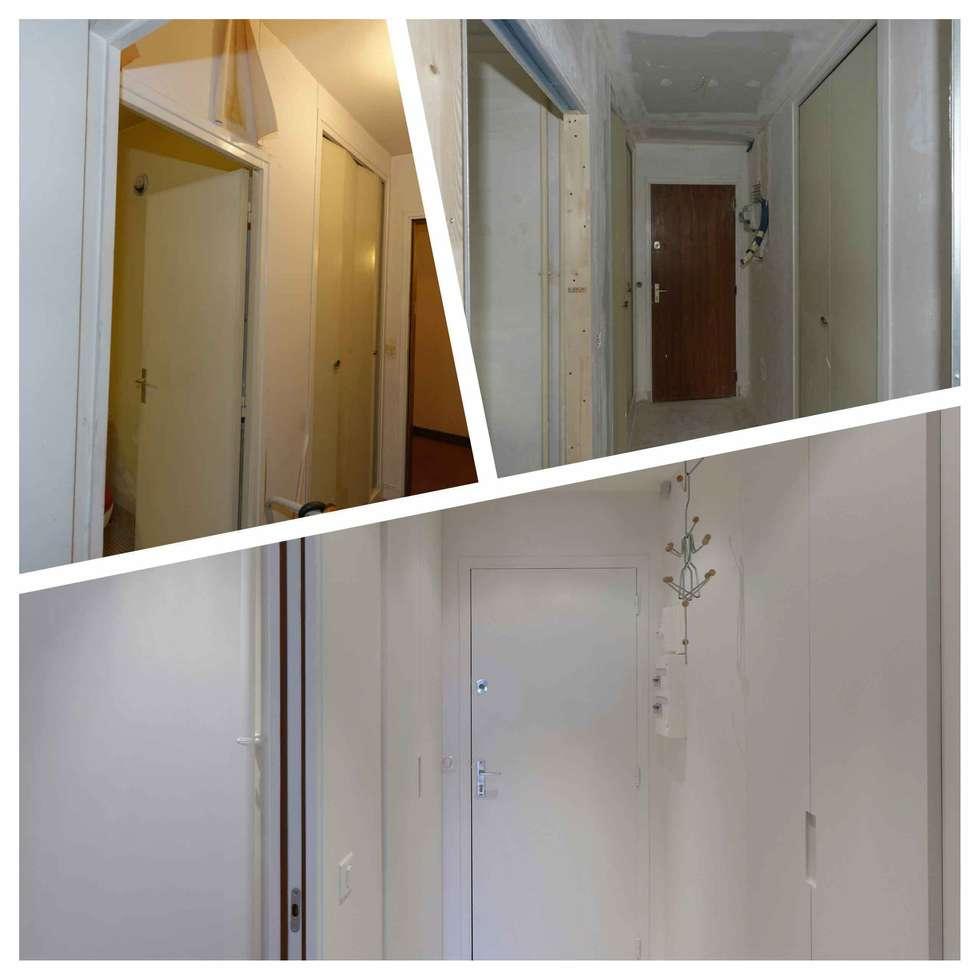 Entrée: Couloir et hall d'entrée de style  par Design By Solène Utard