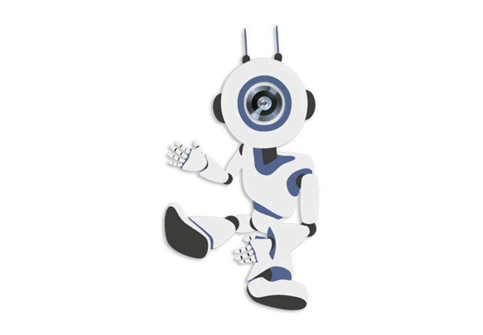 Türspion Robot 02:  Flur & Diele von K&L Wall Art