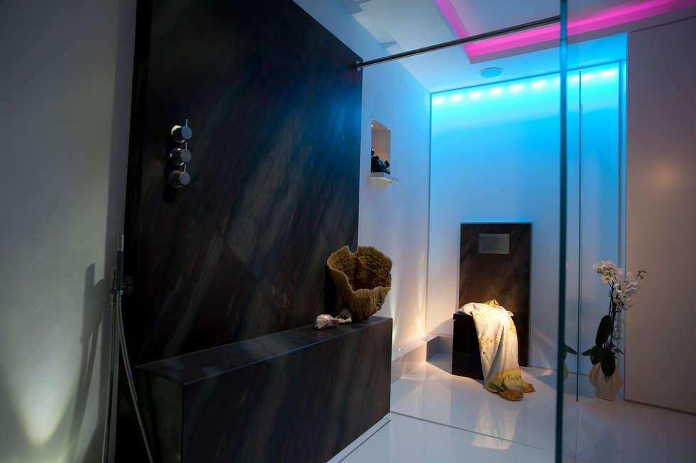Spa Design mit Lichtdesign für die Sinne: ausgefallene Badezimmer von Design by Torsten Müller