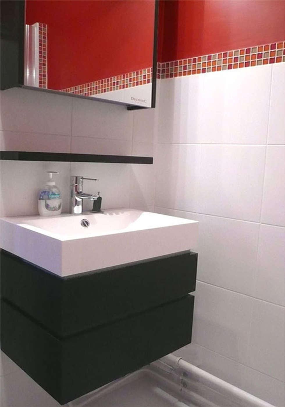 Salle de bain à Houilles: Salle de bains de style  par Delphine Gaillard Decoration