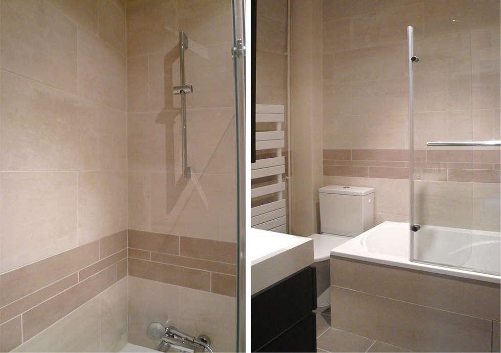 Salle d bain à Boulogne: Salle de bains de style  par Delphine Gaillard Decoration