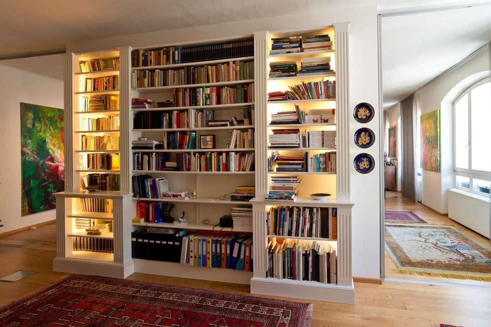 Bibliothek: ausgefallene Arbeitszimmer von Elke Altenberger Interior Design & Consulting