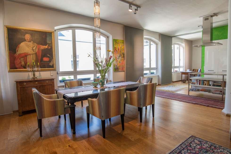 Essbereich Loft: ausgefallene Esszimmer von Elke Altenberger Interior Design & Consulting