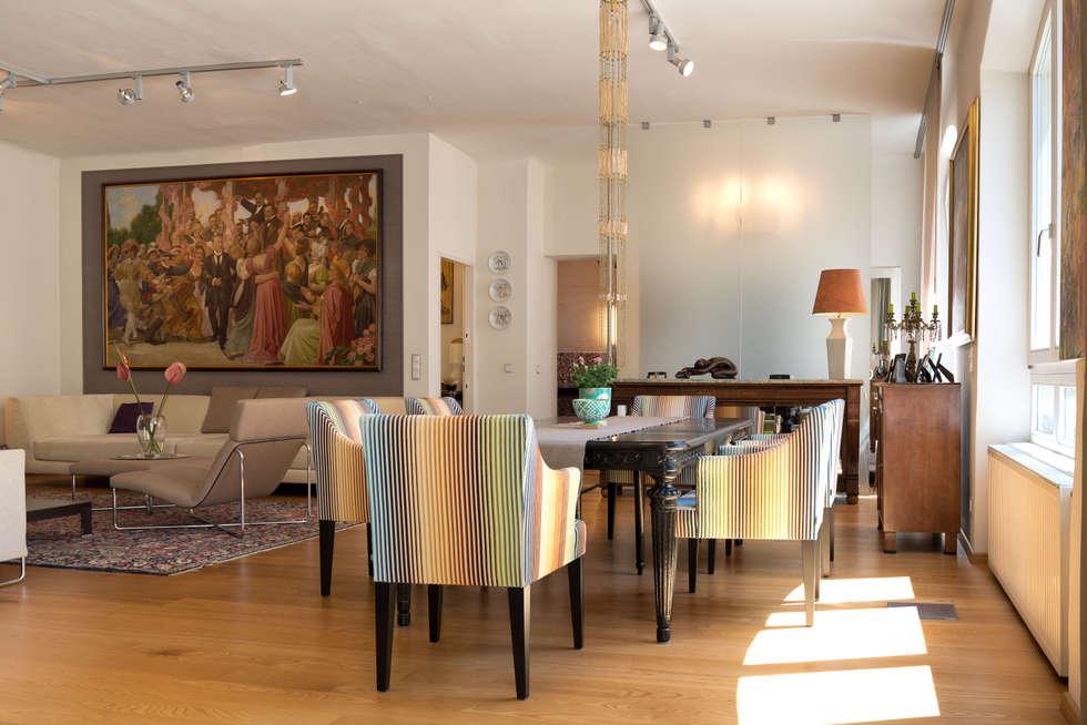 Essbereich und Wohnen: ausgefallene Esszimmer von Elke Altenberger Interior Design & Consulting